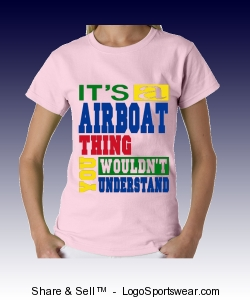 Airboat T-shirt Design Zoom