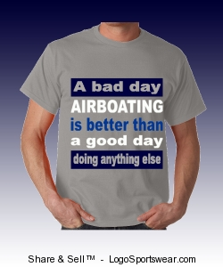 Men's Airboat T-shirt Design Zoom