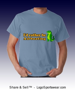 I'd rather be Airboating T-shirt Design Zoom